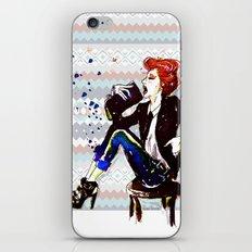 A Redhead Sitting iPhone & iPod Skin