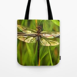 Dragonfly In Brown And Yellow Tote Bag