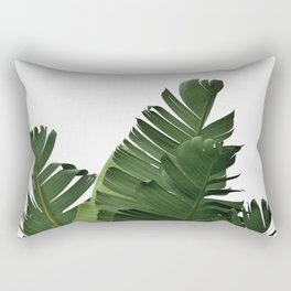 Minimal Banana Leaves Rectangular Pillow