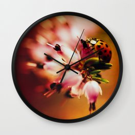 Impression with heathers Wall Clock