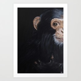 Le Chimpanzé Art Print