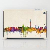 washington dc iPad Cases featuring Washington DC Skyline Cityscpae by artPause