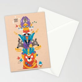 Honk Totem Stationery Cards