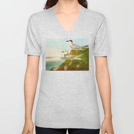Havell's Tern and Trudeau's Tern Unisex V-Neck