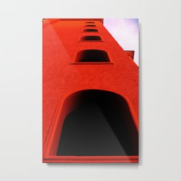A través de la ventana Metal Print