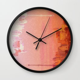 CHAMPAGNE DRUNK SKYLINES Wall Clock