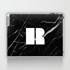 Black Marble - Alphabet R Laptop & iPad Skin