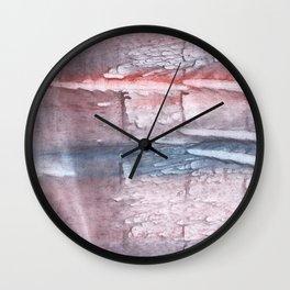 Pink gray cloud Wall Clock