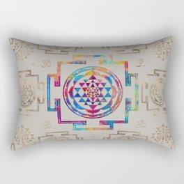Sri Yantra  / Sri Chakra in color on canvas Rectangular Pillow