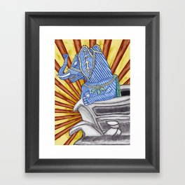 Super Senior Elephante Framed Art Print