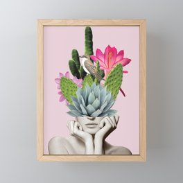 Cactus Lady Framed Mini Art Print