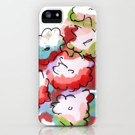 Saturated Flowers iPhone Case