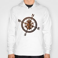 wooden Hoodies featuring Wooden Anchor by Nicklas Gustafsson