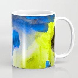 Abstract Window Yellow & Electric Blue Coffee Mug