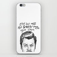 parks and recreation iPhone & iPod Skins featuring Ron Swanson. [Parks and Recreation] by Jillian Kaye