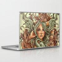 elephants Laptop & iPad Skins featuring Elephants by Heather Hitchman