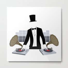 DJ Gramophone Metal Print