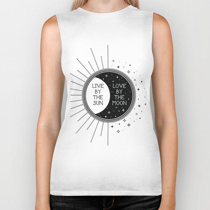 Live by the Sun Love by the Moon Biker Tank