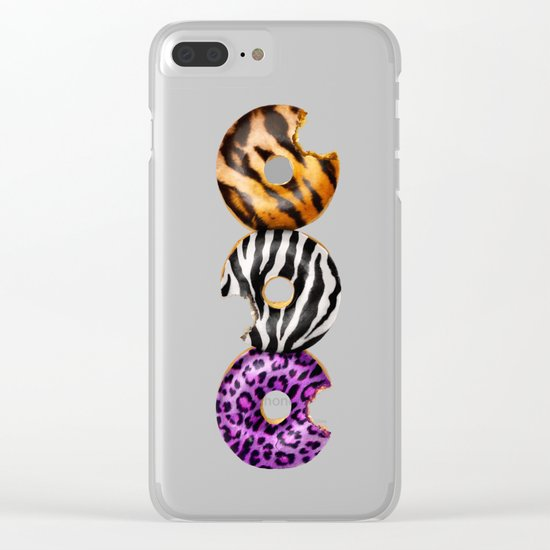 WILD DONUTS Clear iPhone Case