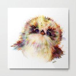 Baby Owl ~ Owlet Painting Metal Print
