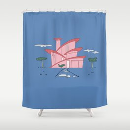 Pink Panther's Modern House Shower Curtain