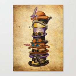 Hat Stack Canvas Print