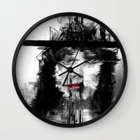 persona Wall Clocks featuring Flashback by PandaGunda