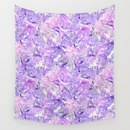 Lilac watercolor leaves Wall Tapestry