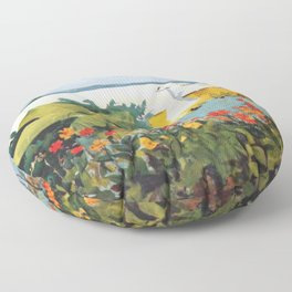 Flower Garden And Bungalow Bermuda 1889 By WinslowHomer | Reproduction Floor Pillow