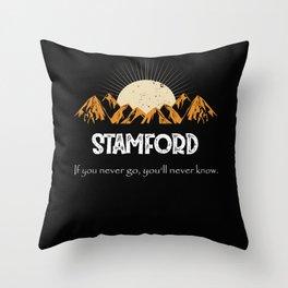 Stamford Hiking Mountains Vintage Women Throw Pillow