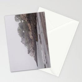 Gray Beach on a gray day Stationery Cards