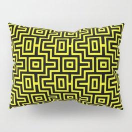 Yellow Buzz Puzzle Choctaw Pattern Pillow Sham