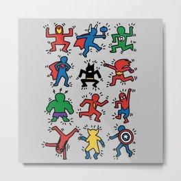Keith Superheroes Metal Print
