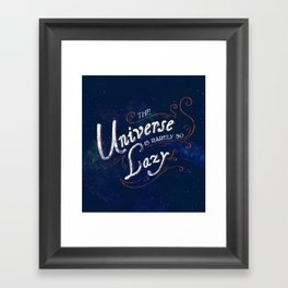 What do we say about coincidence? Framed Art Print