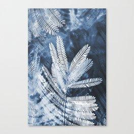 Indigo Leaves Canvas Print
