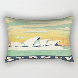 Vintage poster - Sydney Rectangular Pillow