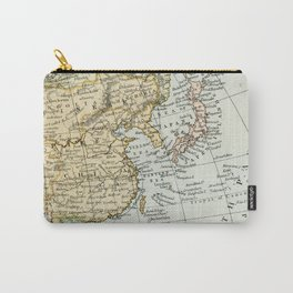 China, Russia, Japan Vintage Map Carry-All Pouch
