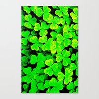 clover Canvas Prints featuring CLOVER by Ylenia Pizzetti
