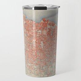 Vintage Map of Beirut Lebanon (1922) Travel Mug
