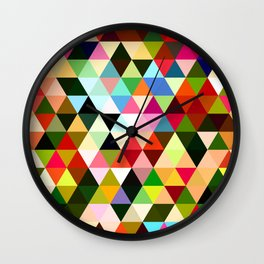 Triangle Mosaic Wall Clock
