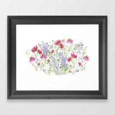 Flowering Meadow - Watercolor Framed Art Print