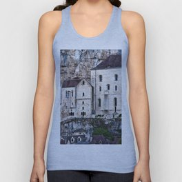 Medieval Facade of the French Castle in Rocamadour Unisex Tank Top