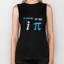 Be Rational Get Real Funny Math Joke Biker Tank