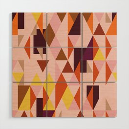 Vintage triangles vibe Wood Wall Art