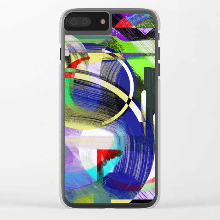 Try To Make Sense Of It All - Random, geometric, eclectic, abstract, colourful art Clear iPhone Case