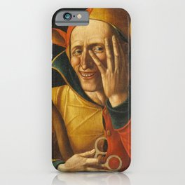Laughing Jester 16th Century Vintage Painting iPhone Case
