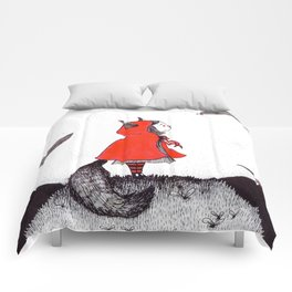 Red Riding Howl Comforters