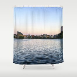 The Lakes Evening Shower Curtain