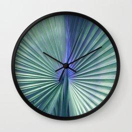 peacock palm Wall Clock