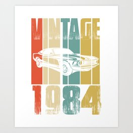 Vintage Retro 1984 T-Shirt Art Print